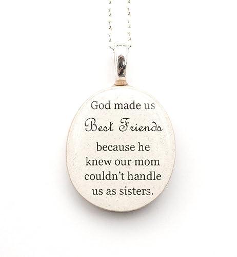 Amazoncom Best Friend Necklace Best Friend Quote Necklace God
