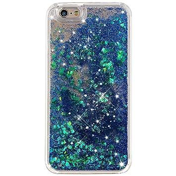 iphone 6 case glitter blue