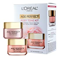 L'Oréal Paris Giftable Kit with Age Perfect Favorites Rosy Tone Moisturizer and Mask, 1 kit