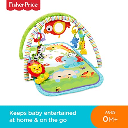 Fisher Price CHP85 Rainforest Friends 3-in-1 Musical Activity Gym, New-Born Baby Play Mat with Music and Sounds, Suitable from Birth-Best-Popular-Product