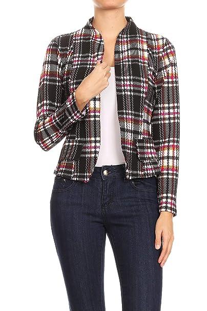 Amazon.com: MissMissy J907 - Blazer de manga larga para ...