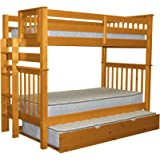 Bedz King Bookcase Mission Bunk Bed