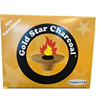 AUTHENTIC- Gold Star Charcoal 33 Mm Shisha Hookah Incense Charcoal 10 Roll 100 pieces