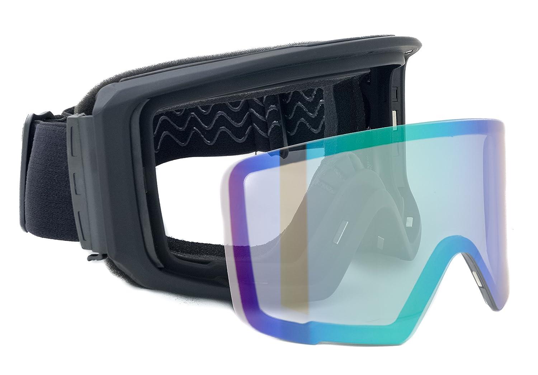 f/ür Brillentr/äger geeignet Brillenputztuch Skibrille verspiegelt Lake Placid 2018 Unisex mit magnetischem Wechselglas f/ür schlechte Sicht Eva-Box//Brillenetui Schneebrille Snowboardbrille