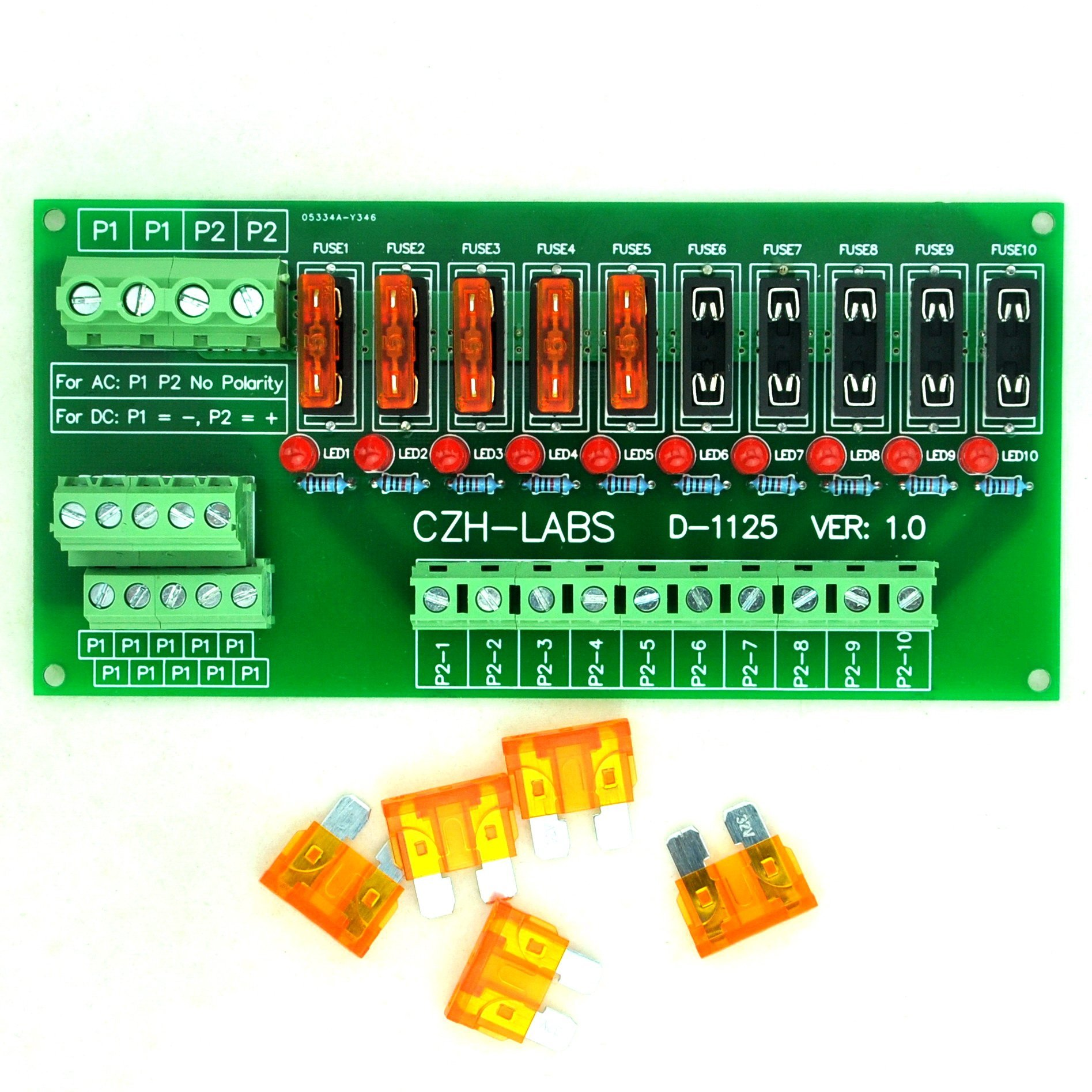 Best Rated In Fuse Blocks Helpful Customer Reviews Painless Wiring Auxiliary 7 Circuit Block Electronics Salon Panel Mount 10 Position Power Distribution Module Board For Ac