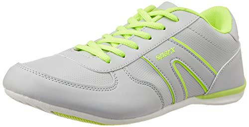 2f4cc564112b Sparx Women s Grey and Flourscent Green Running Shoes - 4UK (SX0078L)