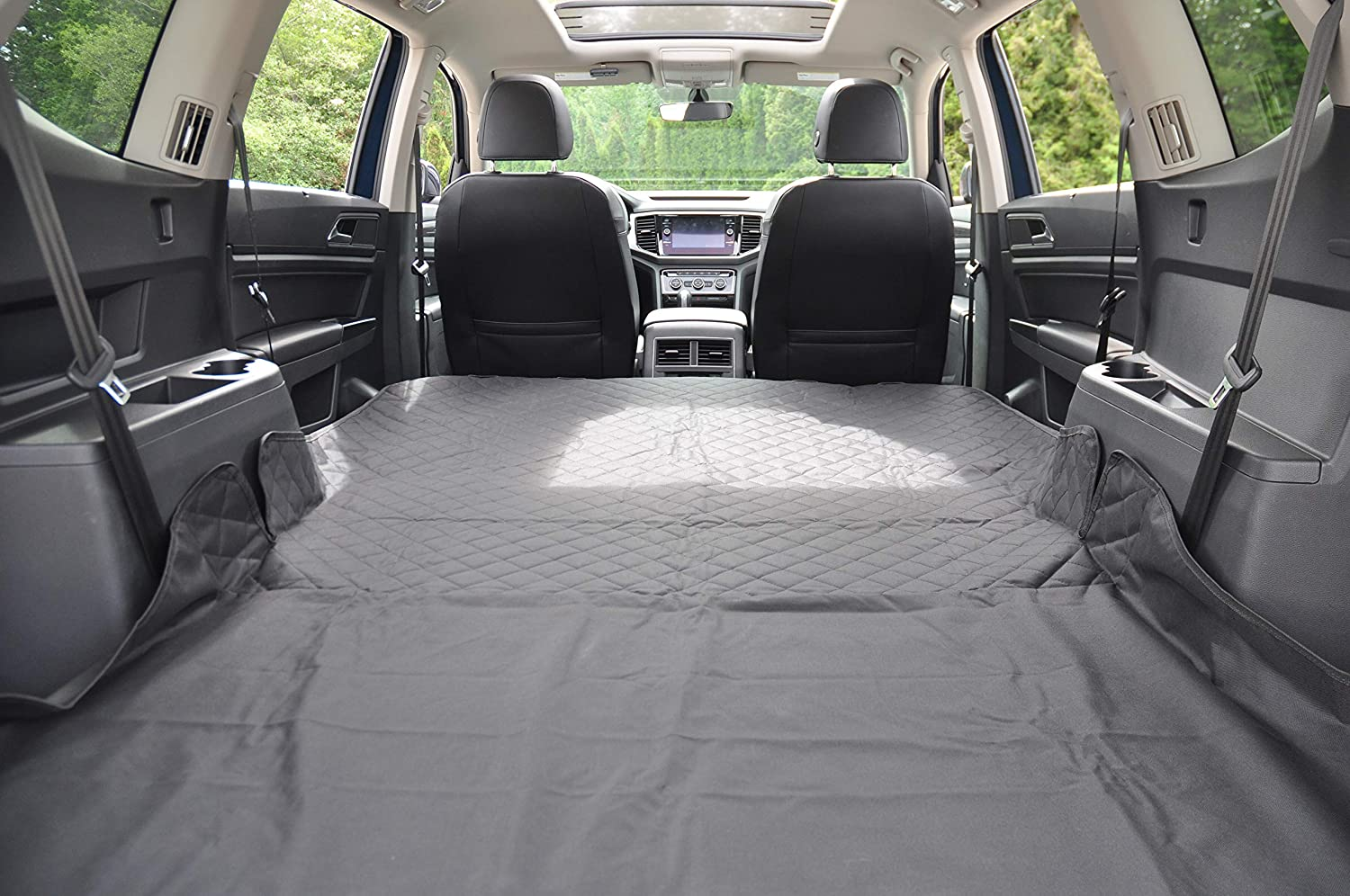 Nonslip Waterproof Oxford Fabric Dog Car Cargo Cover Liner Pet Cover,Pet Car SUV Trucks Cargo Liner Seat Cover Protection Mat