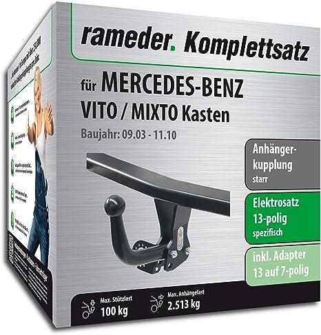 rameder Juego completo, remolque fijo + 13POL Elektrik para Mercedes-Benz Vito/mixto