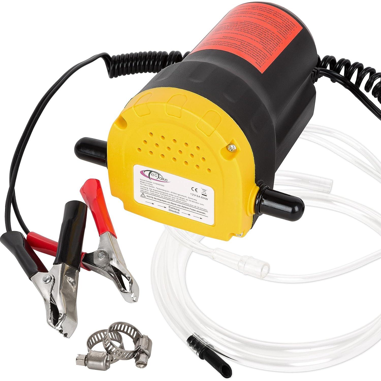 TecTake Pompe /él/éctrique /à vidange extraction huile diesel aspiration kit auto 12V 60W
