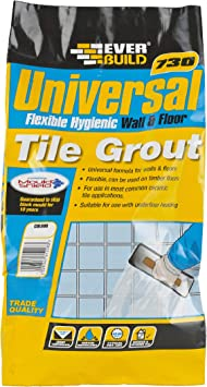 Everbuild Evbuflex5gy 5 Kg Universal Flexible Grout Grey Amazon Com