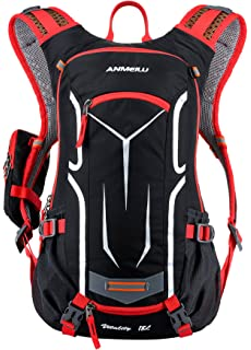 Veenajo 10L Cycling Backpack Water-Resistant Biking Rucksack Breathable Hydration Pack Lightweight Ski Rucksack for