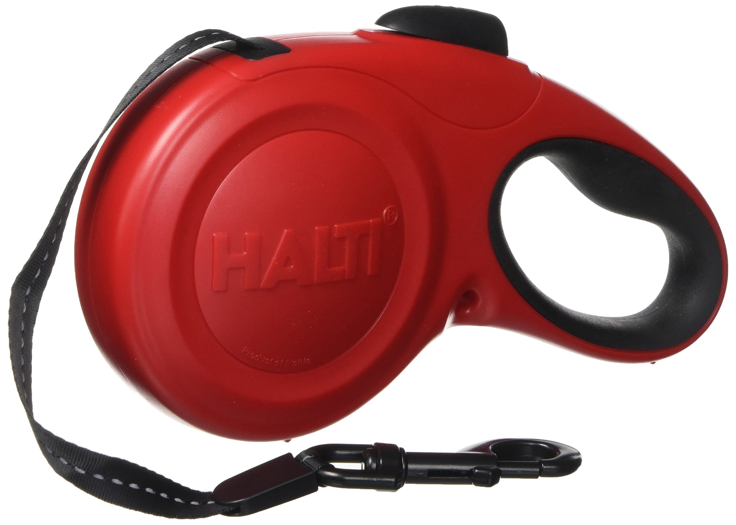 The Company of Animals - HALTI Retractable Dog Leash - One Button Break and Lock - Large - Red