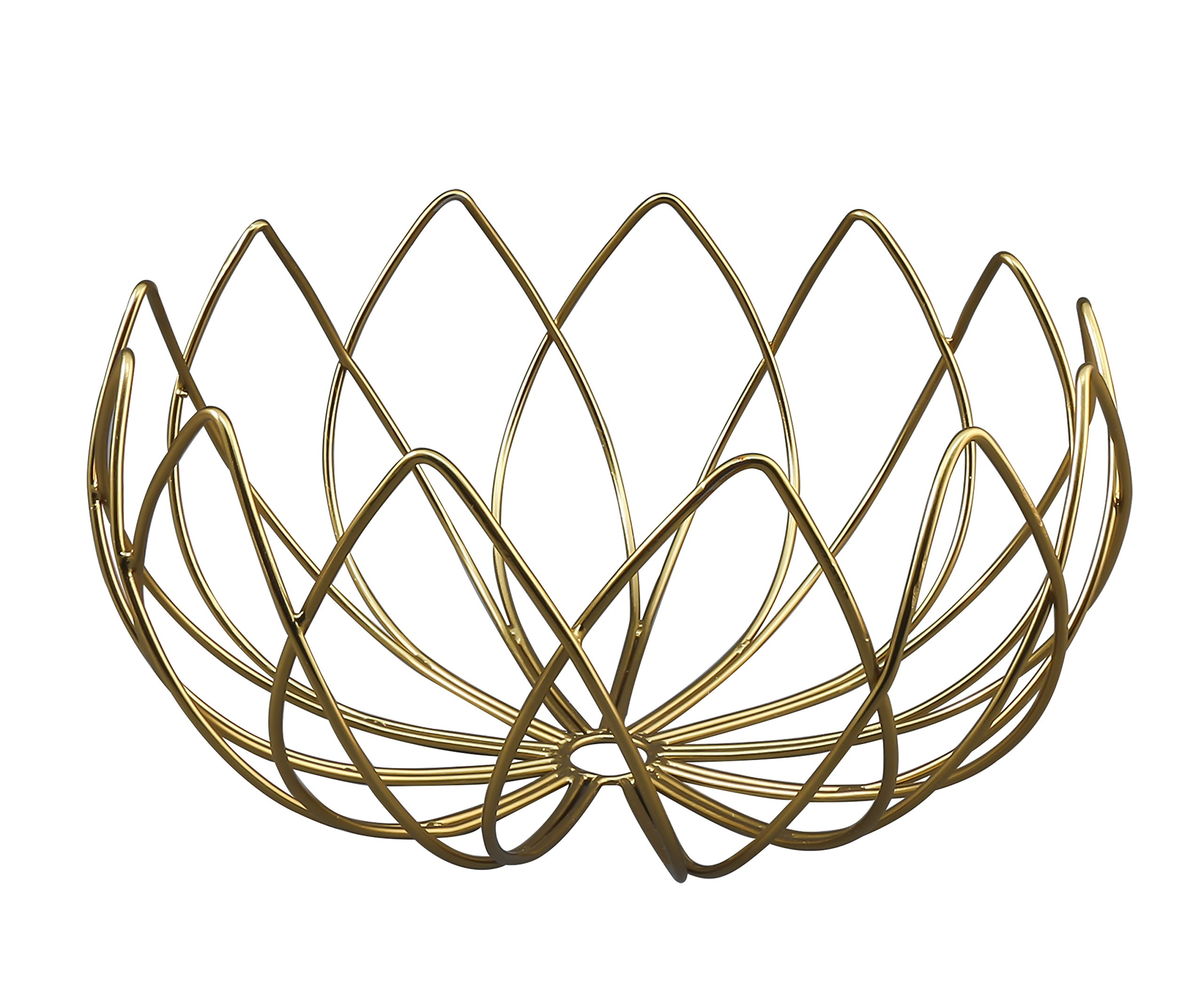 Thirstystone Patina Vie Wire Lotus Bowl, One Size, Gold