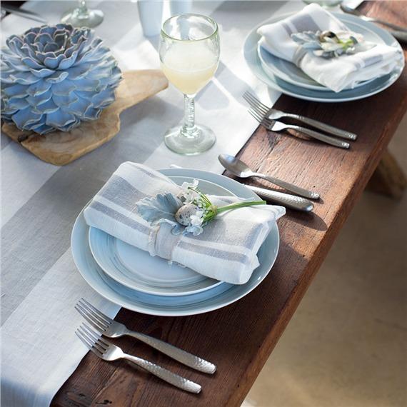 Dakota Porcelain Dinner Plate - Mist (491568269), Stoneware Dinner plates, Wooden plates & More | bambeco