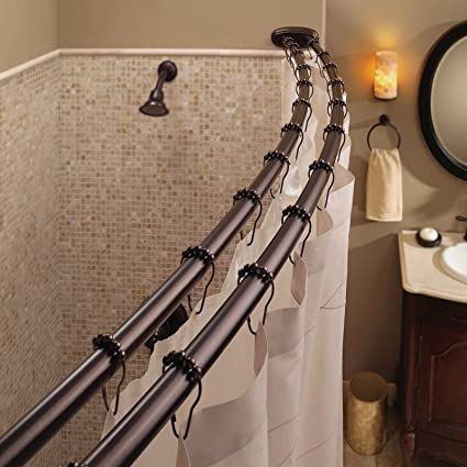 Image Unavailable Not Available For Color Bennington Adjustable Double Curved Shower Curtain Rod