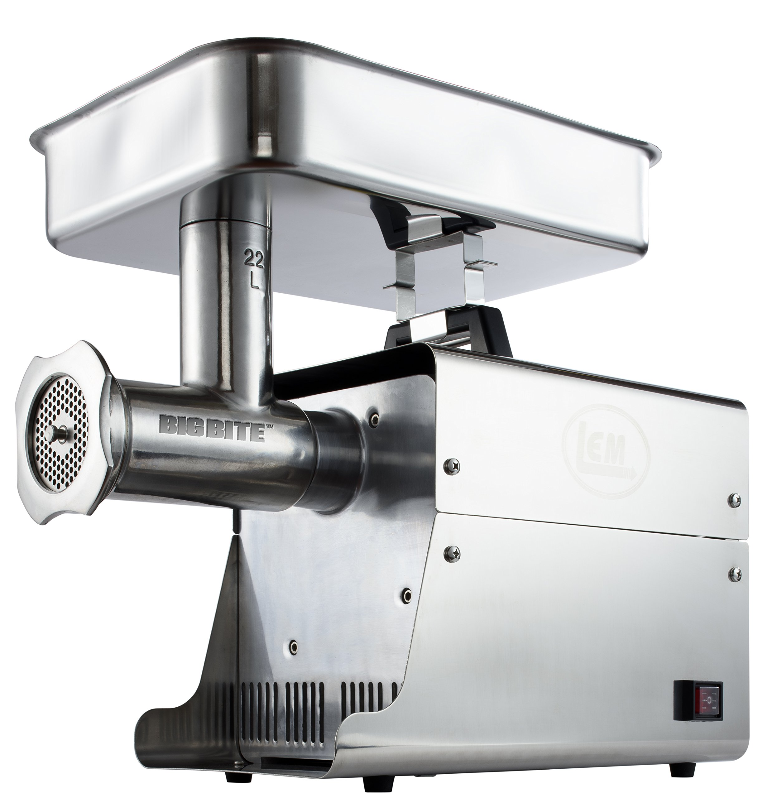 LEM Products W781A Stainless Steel Big Bite Electric #22-Meat Grinder (1-HP) by LEM