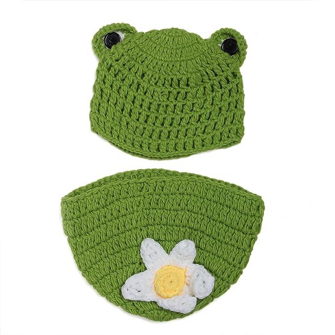 aierwish Kinder Baby Strick Mütze Fotoshooting Neugeborene Frosch ...