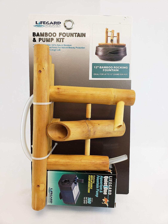 "Lifegard Aquatics R440860 Bamboo Rocking Fountain-Complete with Pump/Tubing, 8"", Brown : Garden & Outdoor"