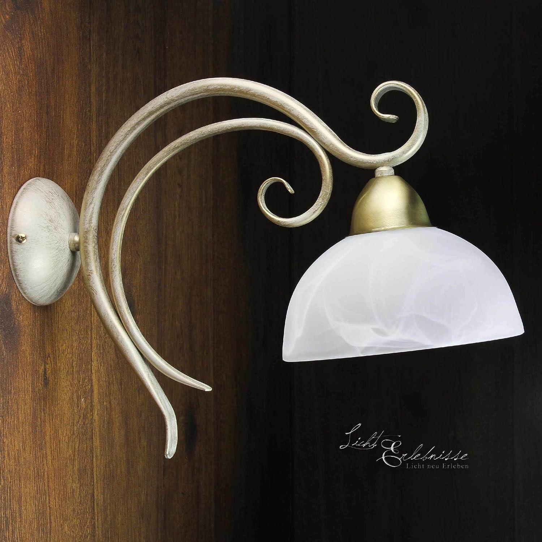 Wandleuchte Landhaus Messing 1x E27 max 60W rustikale Lampe Lampe Lampe Wohnzimmer floral Stil Flur Esszimmer Wandlampe 280a5c