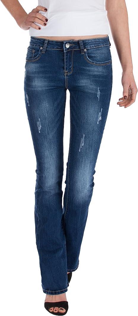 schlaghose Damen Bootcut jeans es fällt  eine Nummer kleiner aus