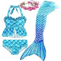 Shanchen clothing. Mermaid Tail Swimsuit Latest Girl Bikini Beach Swimsuit 4-Piece Set