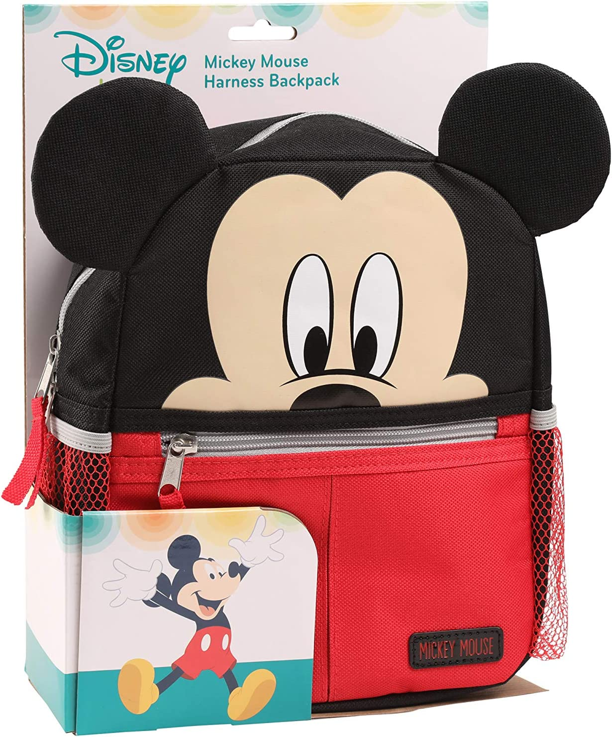 Disney Mickey Mouse Mini Backpack with Safety Harness Straps For Toddlers
