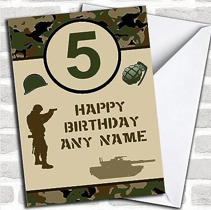 Amazon Army Age Green Camo Childrens Birthday Personalized