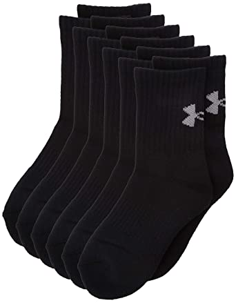 Under Armour UA Charged Cotton Crew Youth Calcetines, Unisex niños