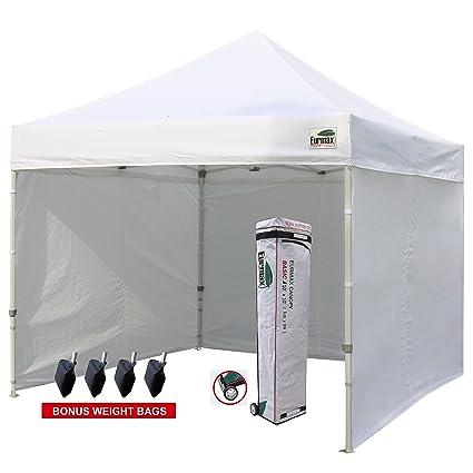 Eurmax 10u0027x10u0027 Ez Pop-up Canopy Tent Commercial Instant Tent with 4  sc 1 st  Amazon.com & Amazon.com : Eurmax 10u0027x10u0027 Ez Pop-up Canopy Tent Commercial ...