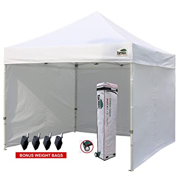 Eurmax 10u0027x10u0027 Ez Pop-up Canopy Tent Commercial Instant Tent with 4  sc 1 st  Amazon.com & Amazon.com : Eurmax 10u0027x10u0027 Ez Pop-up Canopy Tent Commercial ...