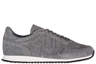 502e1c87601 Armani Jeans Men s Shoes Suede Trainers Sneakers Grey UK Size 8 935027  7P443 20940