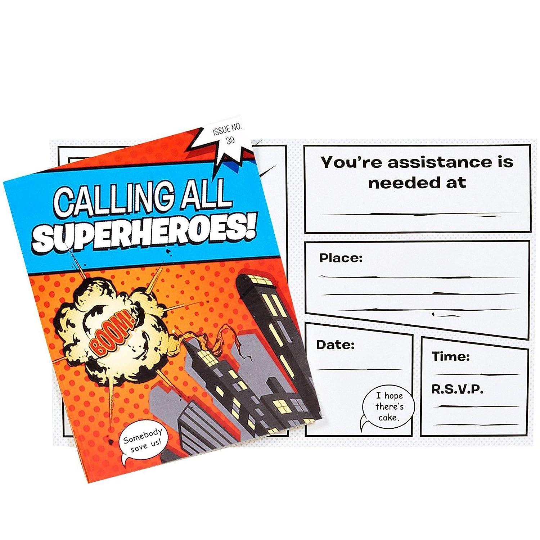 Amazon.com: BirthdayExpress Superhero Comics Party Supplies ...