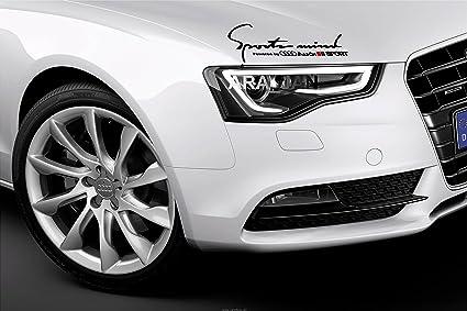 QUATTRO AUDI A4 A6 A8 RS3 RS4 Q5 S Line Racing Decal sticker emblem logo BLACK