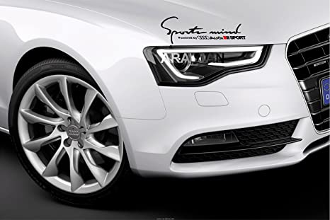 Sports Mind Powered by VOLVO Sport Racing Decal sticker emblem logo WHITE//R Pair
