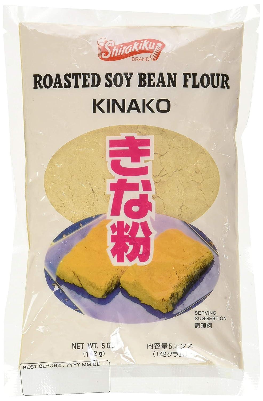 Kinako (harina de poroto de soja tostada) de Shirakiku, 5 oz.