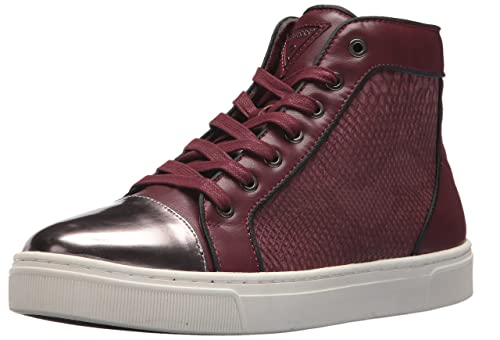 GUESS Mens Boden Sneaker, red, 10 Medium US