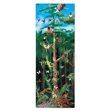 Melissa Doug Rainforest Floor Puzzle Easy Clean Surface Promotes Hand Eye Coordination 100 Pieces 48 L X 18 W Great Gift For Girls And Boys