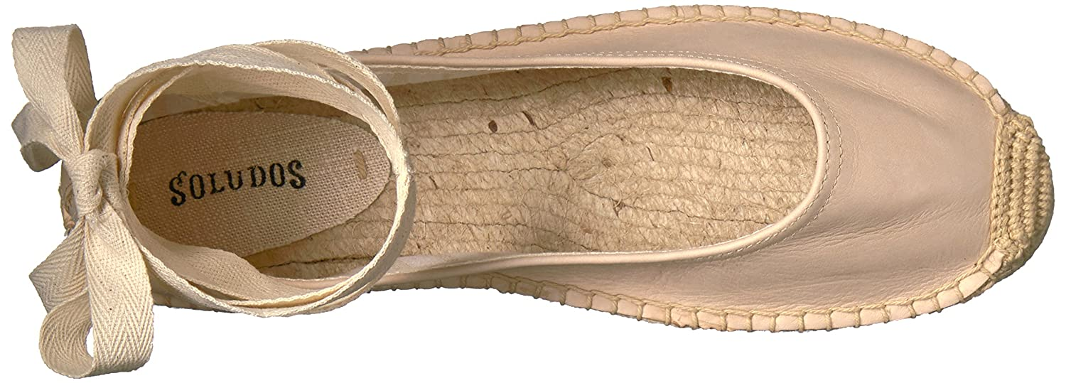 Soludos Women's Tie up Ballet Flat B06WD6BHHT 7.5 B(M) US|Nude