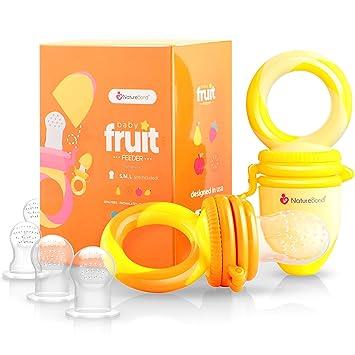 naturebond baby food feeder fruit feeder pacifier 2 pcs infant teething toy