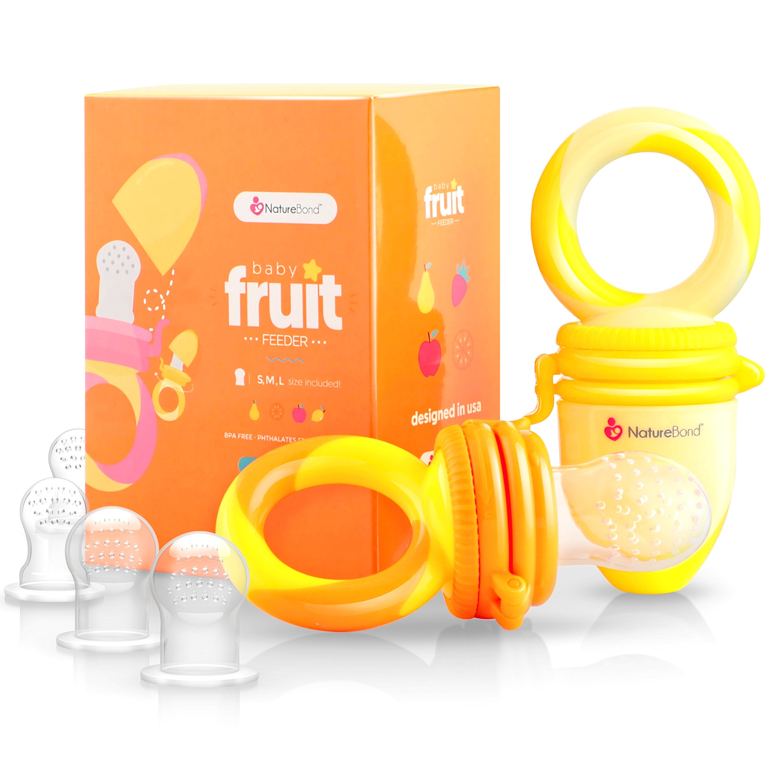 Alimentador para bebe/chupete para frutas de NatureBond (2 piezas) product image