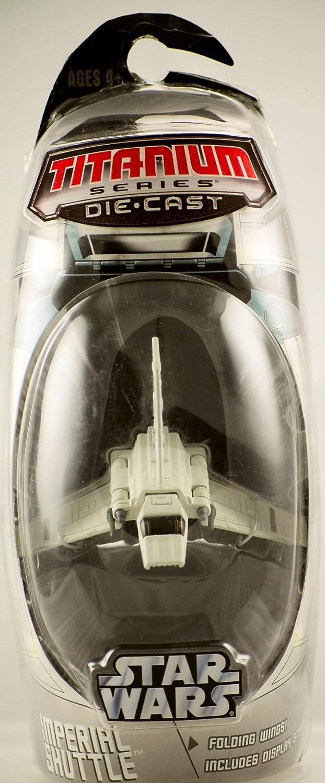 Yellow Naboo Fighter Titanium Series Die-Cast Star Wars 2005 Micro Machines New
