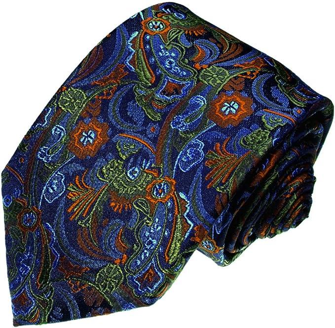 LORENZO CANA - Corbata - Paisley - para hombre azul Ocker, Blau ...