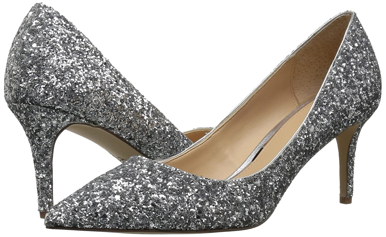 Badgley Pump Mischka Jewel Women's Lyla Pump Badgley B06Y2JR8B1 10 B(M) US|Silver 366340