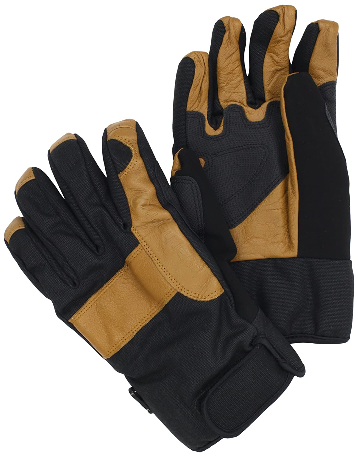 Carhartt Men's Chill Stopper Waterproof Insulated Work Glove, Black/Barley, Large A508