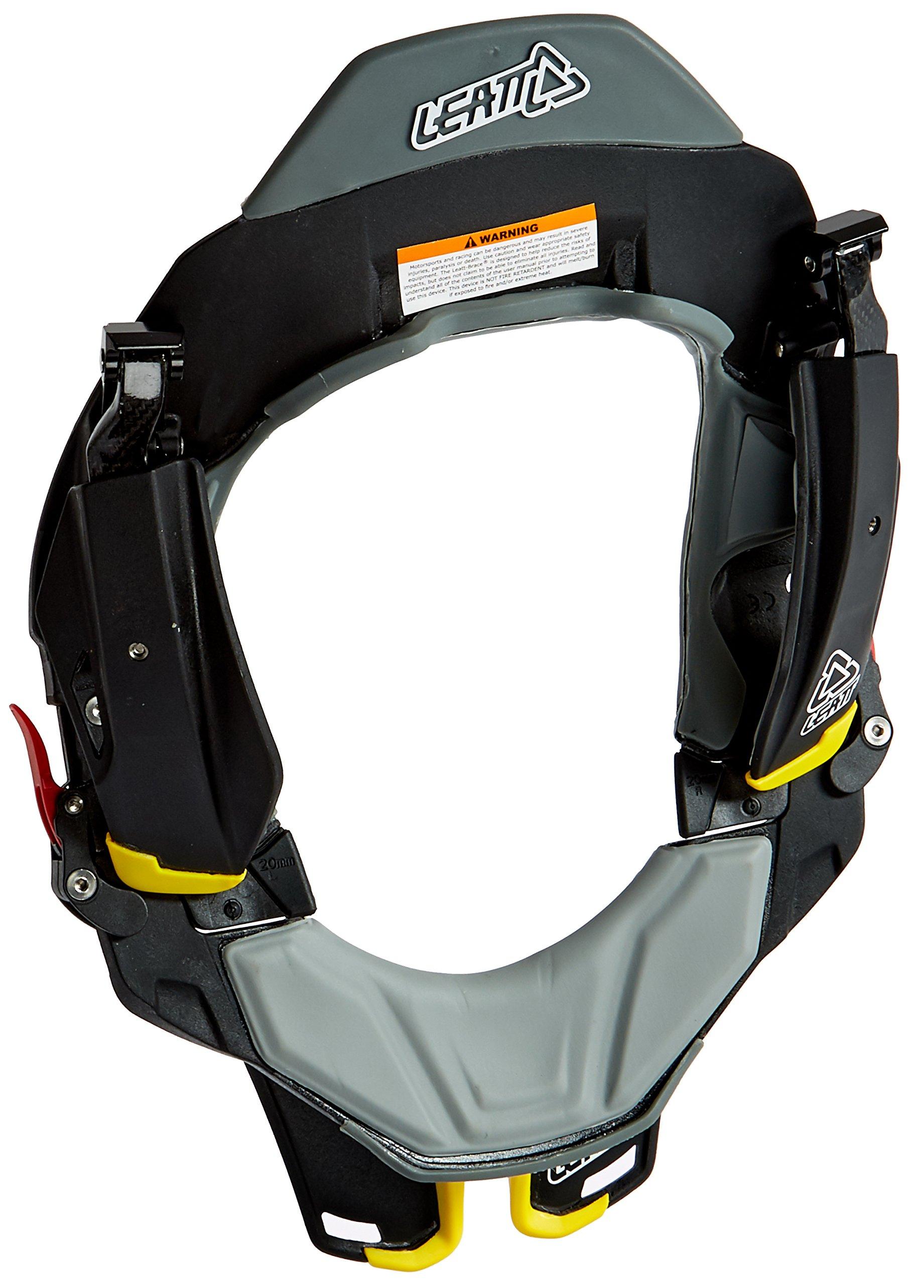 Leatt STX Road Neck Brace (Black/Grey/Yellow, Small/Medium)
