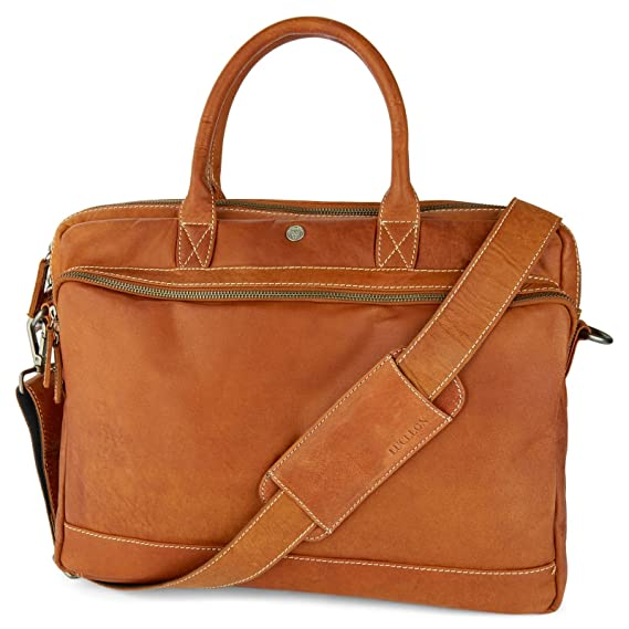 Discount Affordable Oxford Black & Tan Laptop Leather Bag Lucléon Clearance Largest Supplier QssBaJ