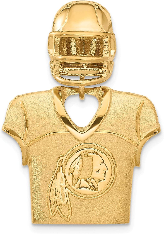 gold redskins jersey