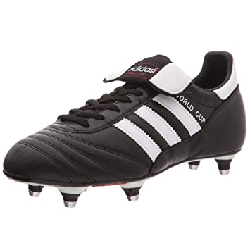 f034855a7 adidas World Cup SG Football Boots - Youth - Black White - UK 4