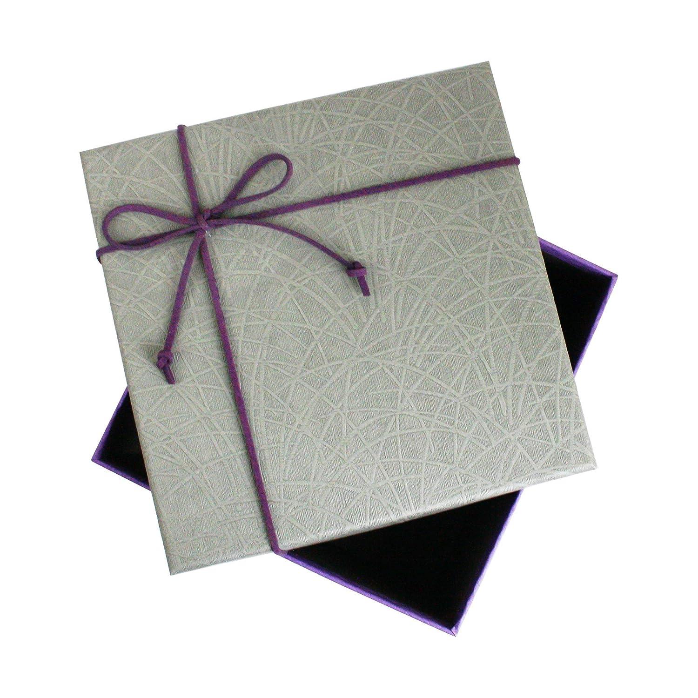 Caja Gris Con Tapa P/úrpura Interior Marr/ón Chocolate y Lazo Decorativo Con Cinta de Gamuza Emartbuy Conjunto de 3 R/ígido Lujo Forma Cuadrada Presentaci/ón de Caja de Regalo