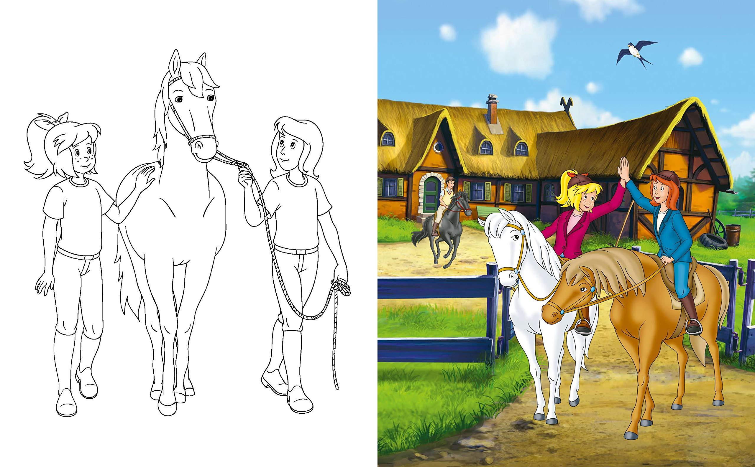 Bibi & Tina - Mein pferdestarkes Kritzel-Kratzel-Buch: Mit Bambus